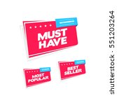 must have  most popular and... | Shutterstock .eps vector #551203264