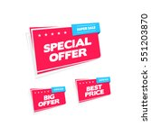 special offer  big offer and... | Shutterstock .eps vector #551203870