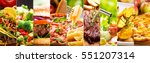 collage of various food... | Shutterstock . vector #551207314
