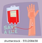 blood donation concept | Shutterstock .eps vector #551208658