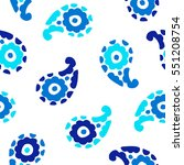 seamless pattern with fantasy... | Shutterstock .eps vector #551208754