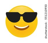cute smiling emoticon wearing... | Shutterstock .eps vector #551210950