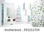 white abstract architectural... | Shutterstock . vector #551211724