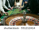casino roulette with people... | Shutterstock . vector #551212414