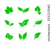 leafs icon | Shutterstock .eps vector #551213560