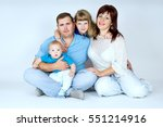 happy family with children | Shutterstock . vector #551214916