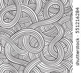 hand drawn seamless pattern.... | Shutterstock .eps vector #551216284