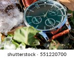 luxury and modern wristwatch in ... | Shutterstock . vector #551220700
