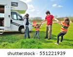 family vacation  rv  camper ... | Shutterstock . vector #551221939