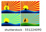 display water sports on... | Shutterstock .eps vector #551224090