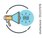 5000 followers  thank you card... | Shutterstock .eps vector #551227078