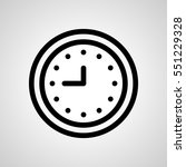 clock icon. isolated sign symbol