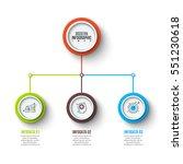 vector elements for infographic.... | Shutterstock .eps vector #551230618