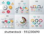 Abstract infographics number options template. Vector illustration. Can be used for workflow layout, diagram, business step options, banner, web design | Shutterstock vector #551230690