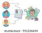 human resources  recruitment... | Shutterstock .eps vector #551236654