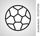football icon. isolated sign... | Shutterstock .eps vector #551237326
