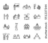 business people icon set vector ... | Shutterstock .eps vector #551237344
