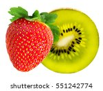 strawberry and kiwi fruits...   Shutterstock . vector #551242774