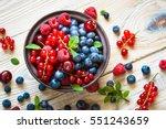 fresh berries. various  summer... | Shutterstock . vector #551243659