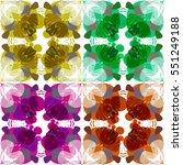 retro pattern design | Shutterstock .eps vector #551249188