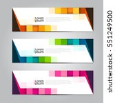 vector design banner background. | Shutterstock .eps vector #551249500