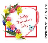 valentines day card. the heart... | Shutterstock .eps vector #551258170