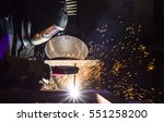welder  craftsman  erecting... | Shutterstock . vector #551258200