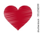 red heart icon. grunge texture...   Shutterstock .eps vector #551258599