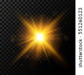 golden burst  light effect on... | Shutterstock .eps vector #551260123