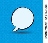 speaking ballon. vector ...   Shutterstock .eps vector #551261008