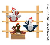 coop. roost for farm poultry.... | Shutterstock .eps vector #551262790
