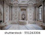 marble bathroom in dolmabah  e... | Shutterstock . vector #551263306