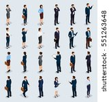 isometric people isometric... | Shutterstock .eps vector #551263648