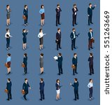 isometric people isometric... | Shutterstock .eps vector #551263669