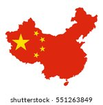 map of china with national flag | Shutterstock .eps vector #551263849
