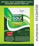 national gold tournament flyer  ... | Shutterstock .eps vector #551264530