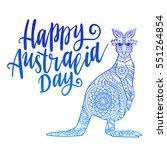 inscription happy australia day ... | Shutterstock .eps vector #551264854