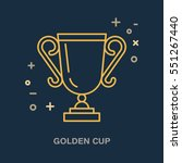 champion trophy linear icon.... | Shutterstock .eps vector #551267440