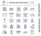 oil heater  fireplace ... | Shutterstock .eps vector #551267470