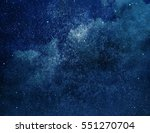 universe filled with stars ... | Shutterstock . vector #551270704