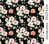 seamless cute pattern of small... | Shutterstock . vector #551271154
