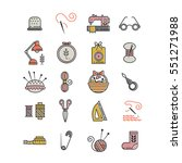 vector hand made icons set  ... | Shutterstock .eps vector #551271988