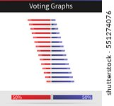 voting graph with percentage...
