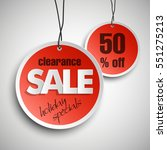 holiday specials clearance sale ...   Shutterstock .eps vector #551275213