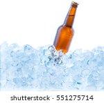 cold brown bottle of beer in... | Shutterstock . vector #551275714