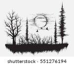 strange forest.silhouetteof... | Shutterstock .eps vector #551276194