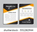 brochure design layout with... | Shutterstock .eps vector #551282944