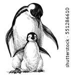 penguins family. cute baby...   Shutterstock .eps vector #551286610
