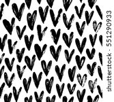 seamless pattern with hearts.... | Shutterstock .eps vector #551290933