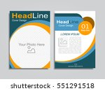 brochure design layout with... | Shutterstock .eps vector #551291518